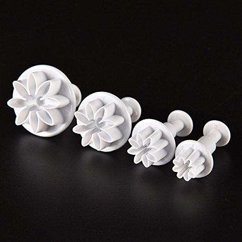 Generic 4/Set Kuchen Form Ständer Daisy Flower Cookie Sonnenblume Plunger Kuchen dekorieren Tools Cupcake Kitchen Fondant Küche Zubehör Daisy Und Sonnenblume