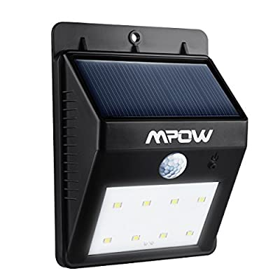 Mpow Solar Powerd Wireless LED Security Motion Sensor Light, Outdoor Wall/garden Lamp / Motion Sensor-Detector Activated / For Patio, Deck, Yard, Garden, Home, Driveway, Stairs, Outside Wall, With Dusk to Dawn Dark Sensing Auto On / Off Function - low-cos
