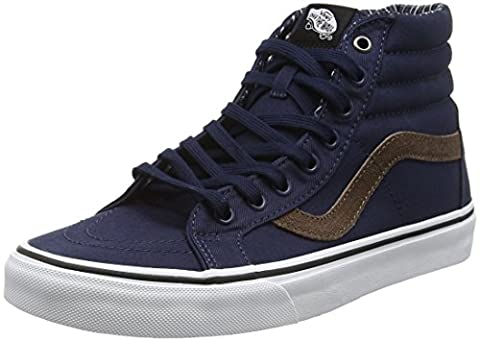 Vans Unisex Adults' SK8 Reissue Hi-Top Sneakers, Blue (Cord and Plaid Dress Blues/True White), 6