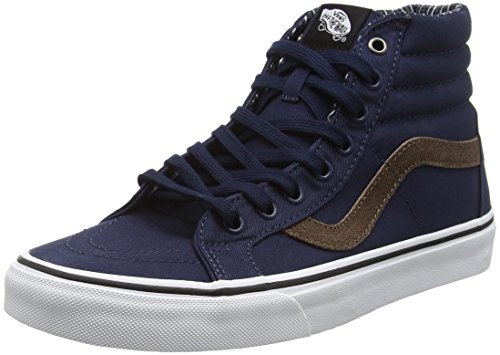 Vans SK8-Hi Reissue, Scarpe da Ginnastica Alte Unisex - Adulto, Blu (Cord and Plaid Dress Blues/True White), 43 EU