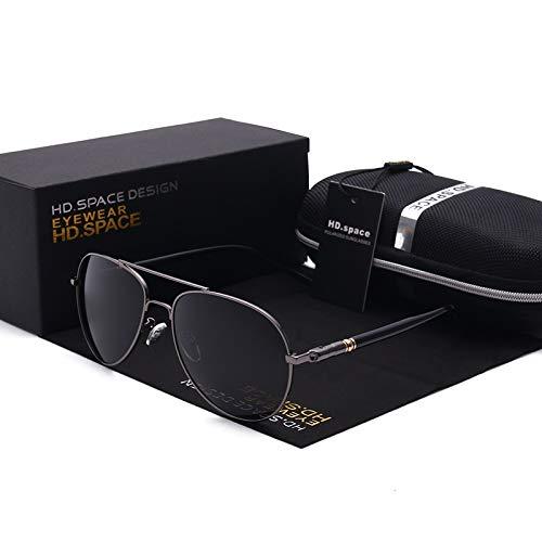 Nan Yin Klassische Polarisierte Sonnenbrille-Männer Retro Art Und Weiseart Neue Markendesigner-Gläser Für Die Sonnenbrille Der Fahrer-Männer (Lenses Color : Grey)