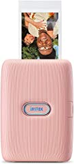 Idea Regalo - Fujifilm Instax Mini Link Dusky Pink, Stampante Fotografica a Sviluppo Istantaneo per Smartphone, Connessione Bluetooth tra Stampante ed App Dedicata, Foto Formato Mini 62 x 46 mm