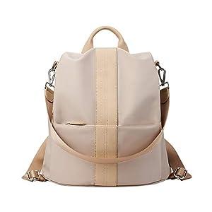KALIDI Damen Rucksack Wasserdichte Schultaschen Anti-Diebstahl Umhängetasche Vintage Rucksäcke Daypack Schulrucksack Tagesrucksack Schultertaschen Handtaschen PU Leder für Schule Reise Arbeit
