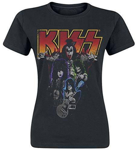 KISS Band-Photo Camiseta Negro S