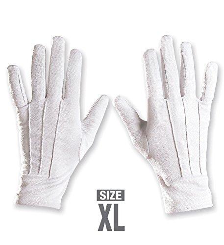 Panelize Weiße Handschuhe mit Naht Nikolaus Weihnachtsmann Zauberer Gentleman (Handschuhe Zauberer Weiße)