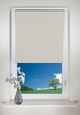 Rapid Teck® Klemmfix Thermo Verdunkelungsrollo 45cm x 150cm beige Verdunklungsrollo Seitenzug Klemmrollo + Kindersicherung