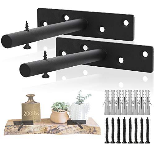 Soportes para estantes ocultos Herrajes para estantes flotantes Soporte de soporte de...