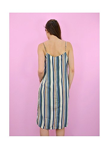 Robe Mi-Longue Imprimée Bleu Bleu