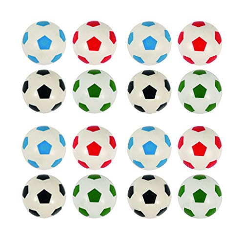 Lila Lotte 12x Fußball Flummi, 4 Farben, Gute Sprungkraft, Mitgebsel Fussballparty, Kindergeburtstag