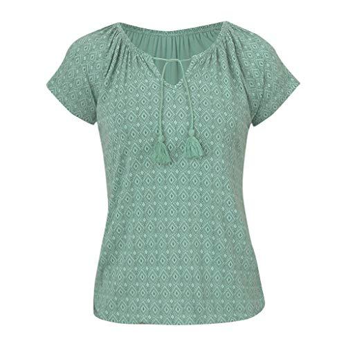 TWIFER Damen Sommer Tops Mode T-Shirt Feminino Böhmischen Gedruckt Top Strand Sommerurlaub Bluse -