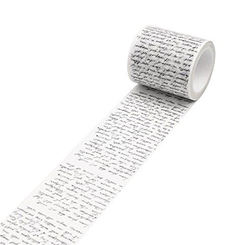 beiguoxia Vintage Washi Tape Deko Papier Klebeband DIY Selbstklebend Scrapbook Aufkleber Einheitsgröße Love Letter