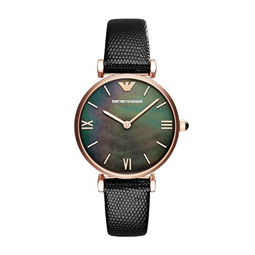 2bd968d3612d Emporio Armani Reloj Analógico para Mujer de Cuarzo con Correa en Cuero  AR11060