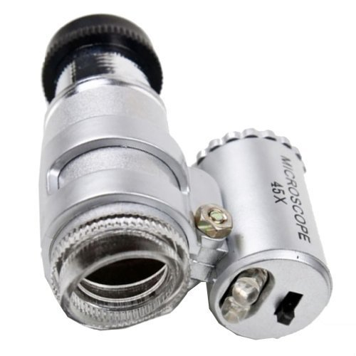 TOOGOO(R) 2-LED 45X Mini Einstellbare bewegliches Mikroskop MG10081-4