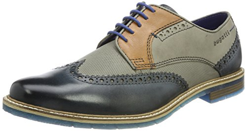 Bugatti Herren 312259041111 Derbys Blau (Dark Blue/Grey 4115) 41 EU
