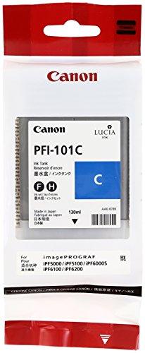 Canon 0884B001 PFI-101C Tintenpatrone cyan Standardkapazität 130ml 1er-Pack (Canon Ipf5000 Tintenpatrone)