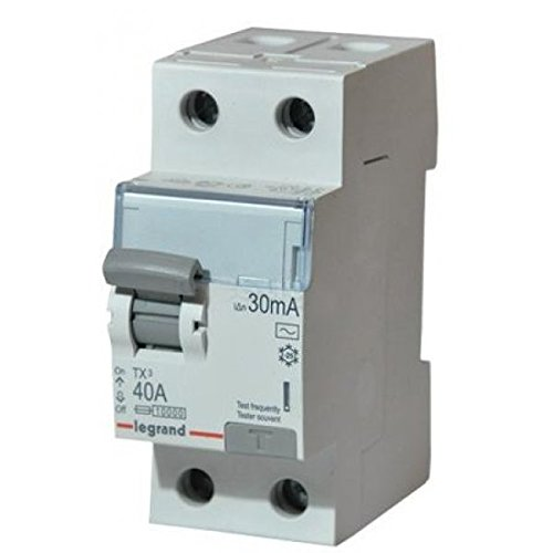 Legrand 403033 Differential TX³ – 2P – 230 V ~ – 30 mA 40 A, Typ AC