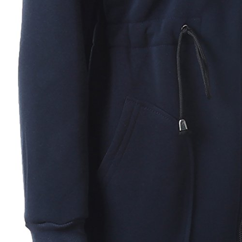 CHENGYANG veste sweat a capuche zippée Sweater Hoodies tunique sweaters hoodie en Automne et Hiver Sweatshirts Tops pull long femme Navy