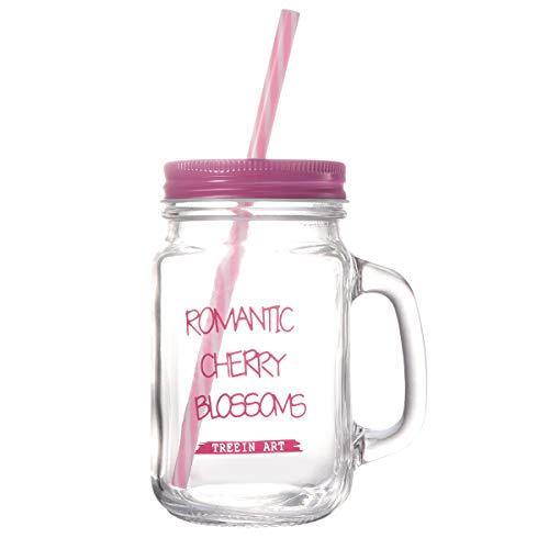 n-Becher doppelwandig isoliert Einmachglas-Becher mit Deckel (pink) ()