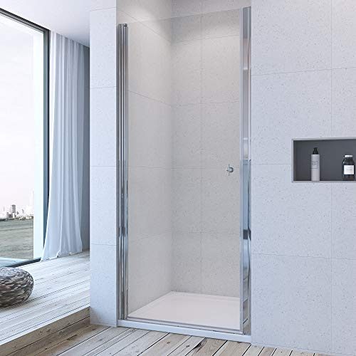 76cm Duschwand Duschtür Nischentür Pendeltür Schwingtür Duschabtrennung Duschkabine au