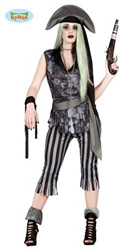 Sexy Geister Piratin Kostüm für Damen Gr. L, (Geister Sexy)
