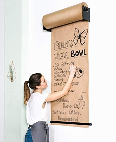 CozyHome Studio Roller - Stylische Wand Papier-Halterung für Büro, Café oder Zuhause - Innovative Alternative zu Whiteboard, Flipchart, Memoboard oder Kreidetafel   -