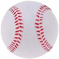 IPOTCH 9 Pulgadas Pelota de Béisbol Práctica y Ejercicio Soft PU Softball Juguetes para Niños Bolas Sports Team Game - Blanco