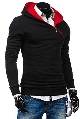BOLF Herren Kapuzenpullover Sweatshirt Pullover New 46S Schwarz