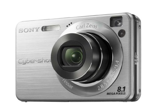 Sony Cybershot DSC-W130-S Digitalkamera (8 Megapixel, 4-Fach Opt. Zoom, 6,4 cm (2,5 Zoll) Display, Bildstabilisator) Silber Sony Ccd-serie