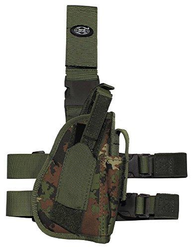 Pistolenbeinholster, vegetato, Bein- und Gürtelbefestigung, rechts -