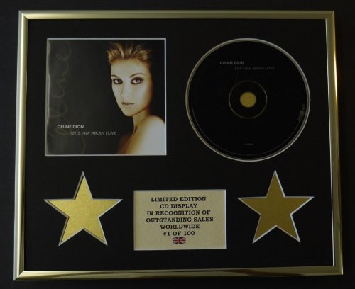 celine-dion-cd-display-limited-edition-coa-lets-talk-about-love