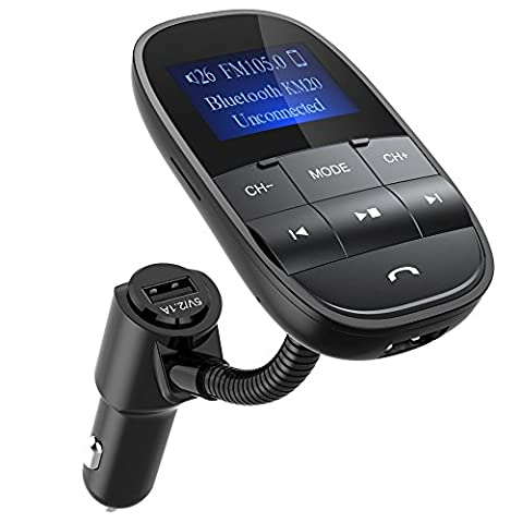 [2017 Modell verbesserte Version] Nulaxy Bluetooth FM Transmitter KFZ Auto