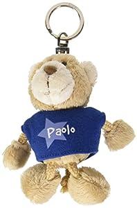 NICI n15894-Llavero Oso con Camiseta Paolo, Azul