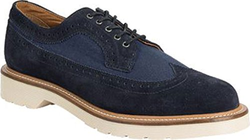 Dr.Martens Mens 3989 5-Eyelet Leather Shoes Dress Blues