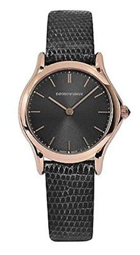 3c52e47ecf34 Emporio Armani Swiss Made Women s Swiss Quartz Stainless Steel and Leather  Dress Watch