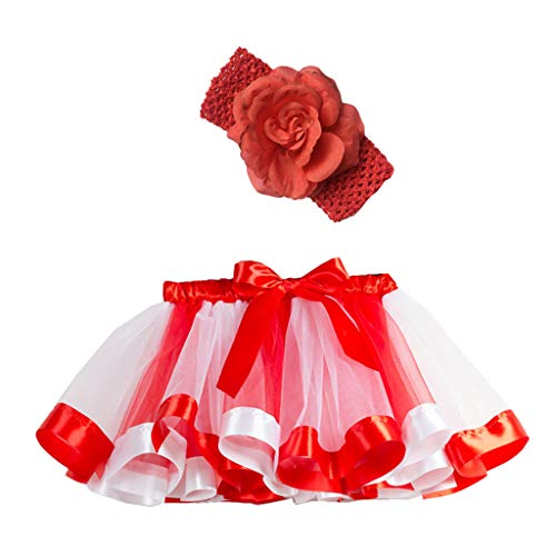 Mädchen Kinder Tutu Party Dance Ballett Kleinkind Baby Kostüm Rock + Stirnband Set