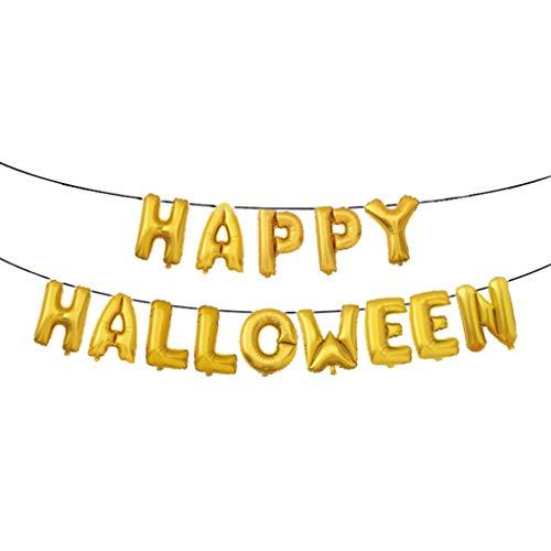 Heetey Halloween Dekoration Halloween Hotel Mall Dekoration Happy Halloween Ballon, Spinne, Fledermaus, Kürbis Ghost Folie Ballon Quaste Latex Ballon für Halloween Bar Home Decor Supplies