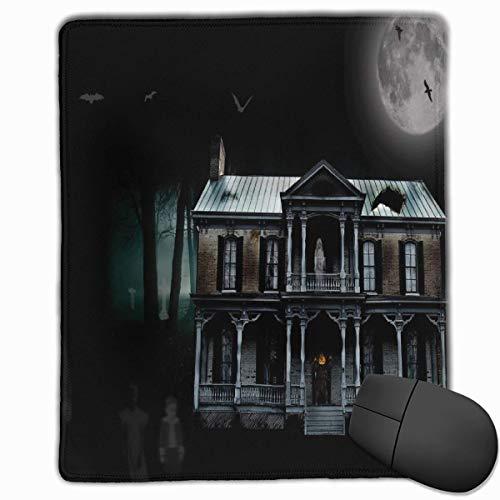 er Mond Graves Fledermäuse Qualität Komfortable Game Base Mauspad mit genähten Kanten Größe 11.81 * 9.84 Zoll ()