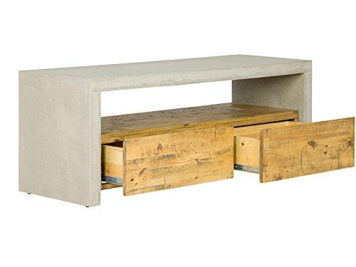 massivum Lowboard Gladstone 120x45x40 cm Pinie braun lackiert - 2