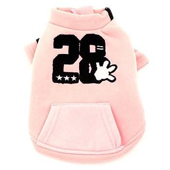 Smalllee _ Lucky _ Ranger Manteau avec doublure polaire Sweat Veste imprimé Puppy Pet Vêtements Han Version, taille XS, Rose