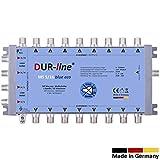 DUR-line MS 5/16 Blue eco - Stromspar Multischalter SAT für 16 Teilnehmer/TV - kein Netzteil notwendig - 0 Watt Standby Multiswitch [Digital, HDTV, FullHD, 4K, UHD]