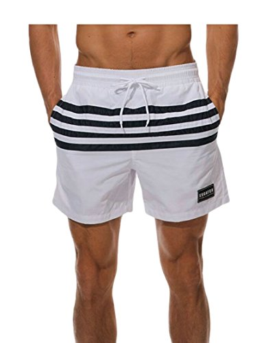 Gocgt Mens Cotton Workout Leisure Active Basketball with Pockets Short