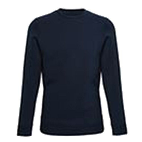 Affordable Fashion Herren Modern Pullover XX-Large Gr. M, Dark Navy RP (Crewneck Wool Brown Pullover)
