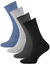 8 Paar Herren Diabetiker Socken, Ohne Gummibund, Baumwolle, Spitze handgekettelt