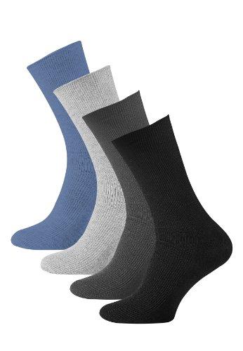 Lot de 8 paires de chaussettes sans élastique - coton - pointe remaillée main - diabétique - taille 43-46