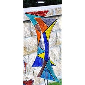 Gartendeko Gartenstecker Glas Design Curved Line Sonnenfänger