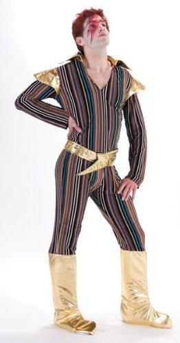 Ziggy Stardust Fancy Dress Kostüm (CC Ziggy Stardust Erwachsene)