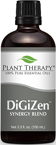 Ginger Essential Blend (Digest Aid Synergy Essential Oil Blend. 100 ml (3.3 oz). 100% Pure, Undiluted, Therapeutic Grade. (Blend of: Peppermint, Anise, Ginger, Tarragon, Fennel and Lemongrass) by Plant Therapy Essential Oils)