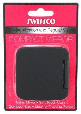 Swissco Miroir compact et grossissant - Grossissement 5x