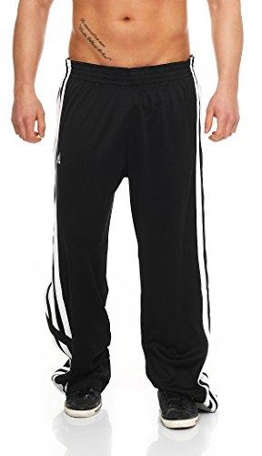 adidas E-Kit Snap Pant Herren Trainingshose Jogginghose Basketball Hose (Schwarz, 3XT (XXXL in Langgröße)) -
