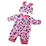 P Prettyia Puppen Tier Form Strampler Overall Set für 50 cm Baby Puppe Dress Up - # 5